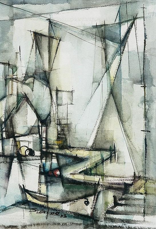 JOO, Seah Kim (Singapore b.1939) - Harbour Scene, 1963.