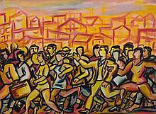 MATASSONI, Terry (b.1959) 'The Panic,' 1990. Realities gallery label verso.