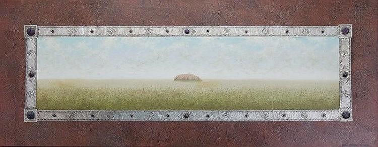 PINNOCK, Mary (b.1951) 'Uluru at Dawn,' 1994.