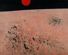 HADLEY Basil (1940-2006), 'Red Planet,' 1976., Oil on Linen, 121x151cm