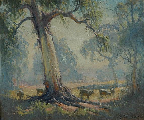 COPES, Dixon (b.1914) 'Morning near Bathurst' Oil