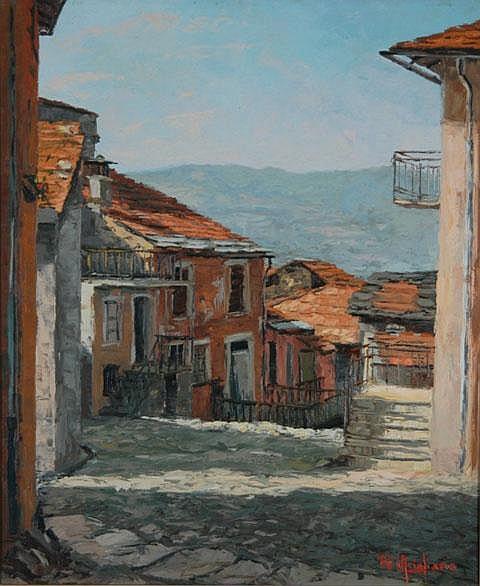 ARIGLIANO, Giuseppe (1917-1999) Italian Hillside