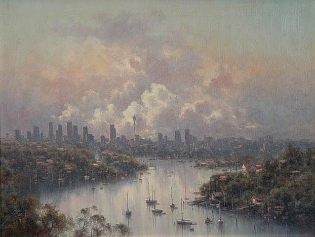 WARD-THOMPSON, Ramon (b.1941) 'City Skyline From