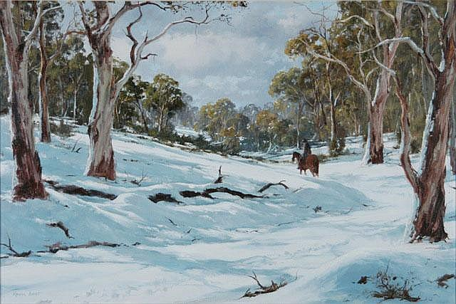 BEST, Kevin (b.1932) 'Man in Solitude' Oil on