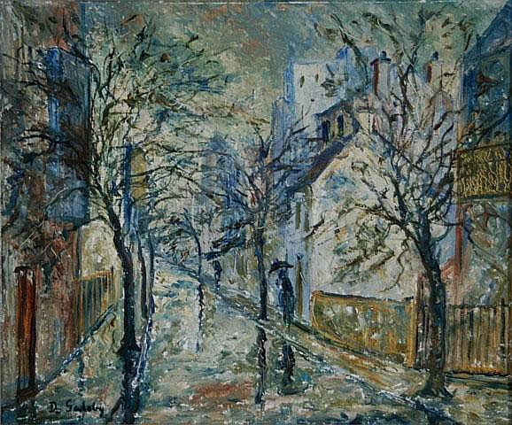 GADSBY, Doreen (b.1926) Rainy Day in the City Oil
