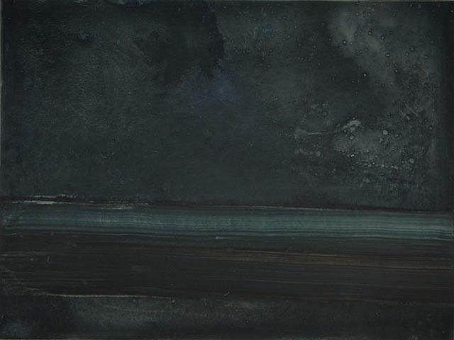 RAPOTEC, Stanislaus (1913-1997) 'Night' Oil on