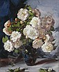 BAKER, Alan Douglas (1914-1987) White Roses Oil on, Alan Douglas Baker, Click for value