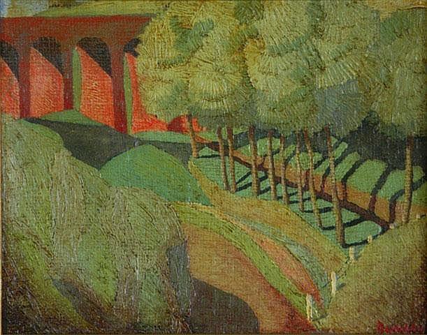 DUNCAN, George (1904-1974) 'Viaduct,' c.1934-35.