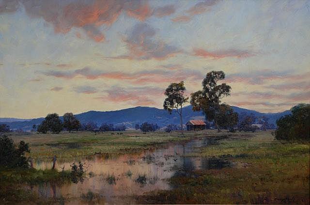 DOWNTON, John (b.1939) 'In the Quiet of Evening,
