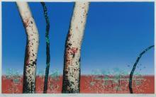 HADLEY Basil (1940-2006), 'Sentinels,' 1992., S/Print 132/175, 64x105cm