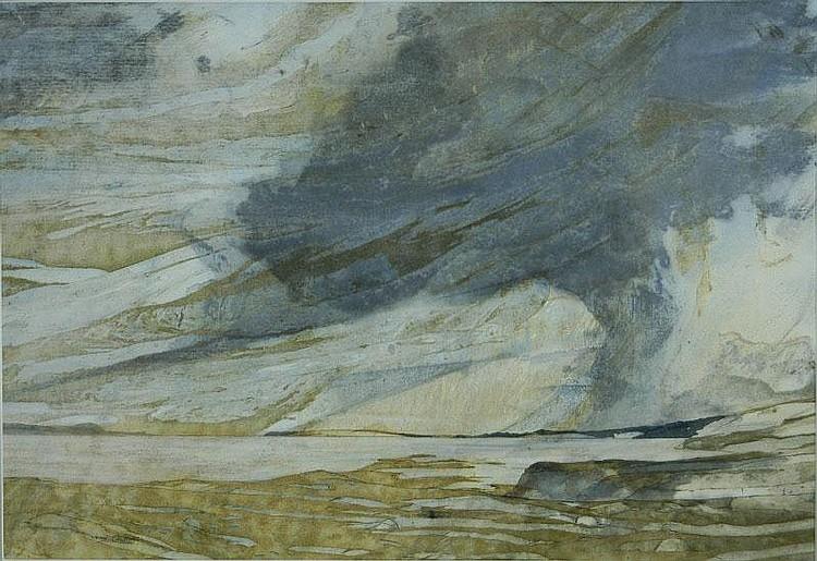 CALDWELL, John (b.1942) 'Passing Showers, South