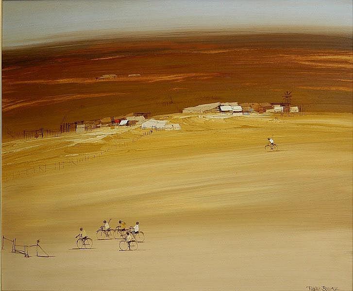 BOGUSZ, Richard (b.1947) 'The Farewell' Oil on