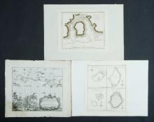 8 Maps from Cooks 3rd Voyage.  Var Pacific maps as pub. in a Dutch issue of 'A New Authentic and Complete account of Voyages Around the World.' Also Batavia, Strafs Sunda by Heydt. <br> Engraving (9) <br> 17x23cm (average)