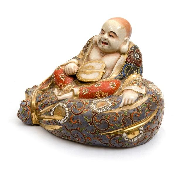 Japanese Satuma Seated Sage Figure