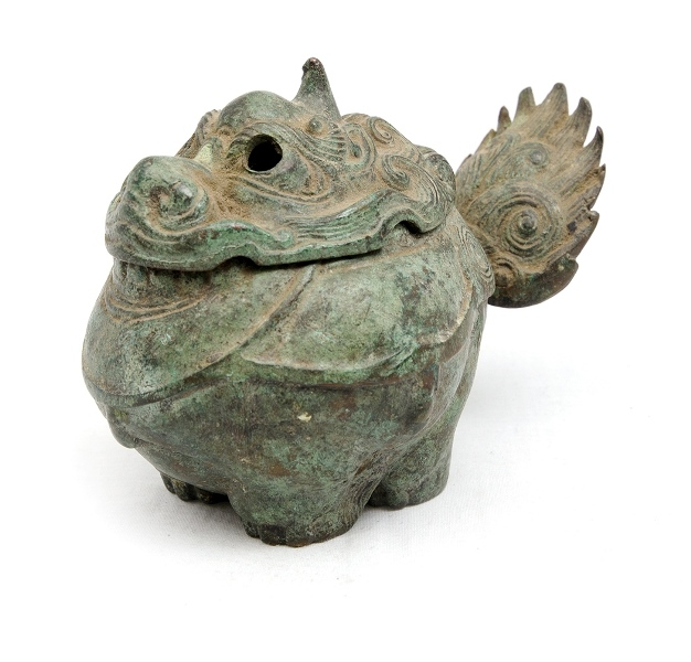 Eastern Bronze Incense Burner. In form of exotic animal. Character marks to base.