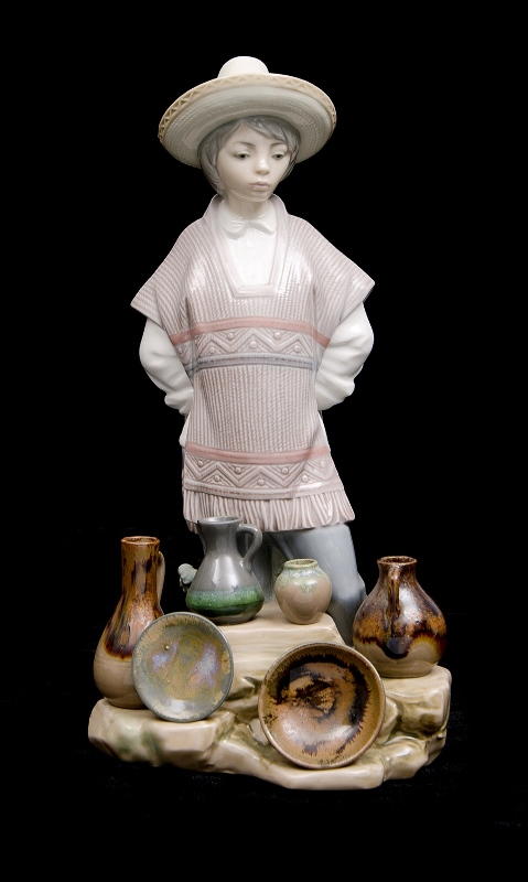 Lladro Spanish Porcelain Seller Figure