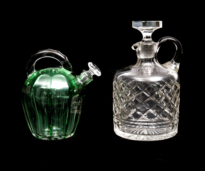 2 Var Crystal Decanter/Flagons.  Incl. Baccarat; & 1 other.