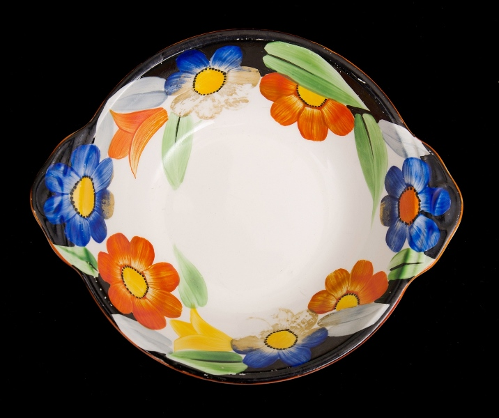 Grays Pottery Susie Cooper Bowl.  Painted blossom decoration.