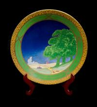 Royal Worcester Limited Edition Pedestal Bowl.  'Lazy Days.' Art Deco Collection. Ltd ed. #11/250 dated 2001. Presentation boxed. Certificate available.