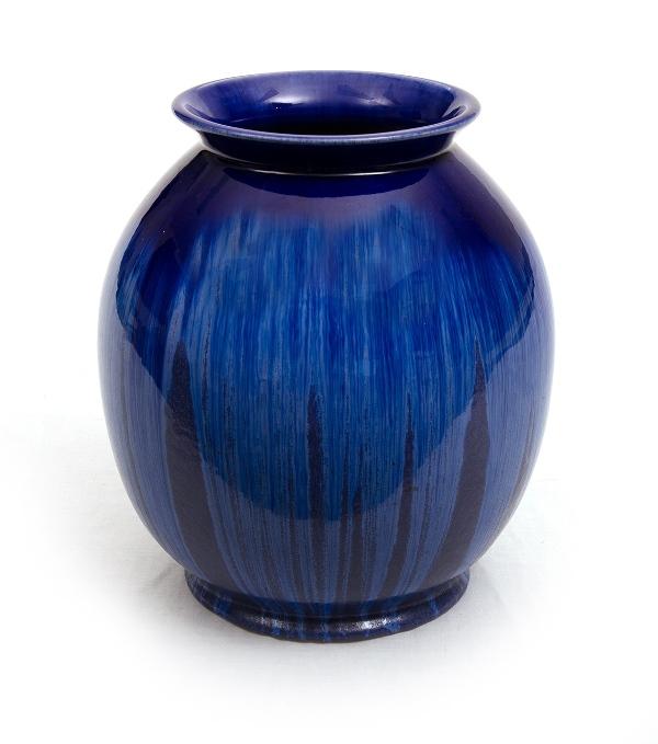 Melrose Ware Pottery Vase.  Blue glaze.