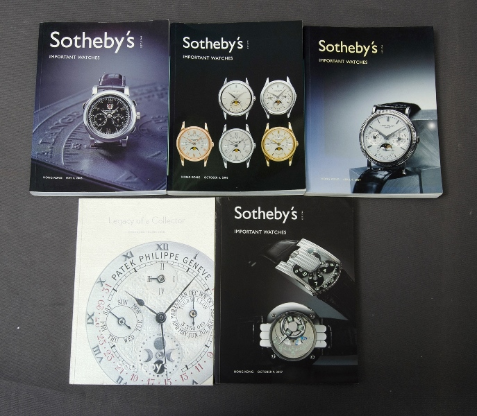 5 Sotheby's Catalogues. Important Watches 2005-6-7 & 8.