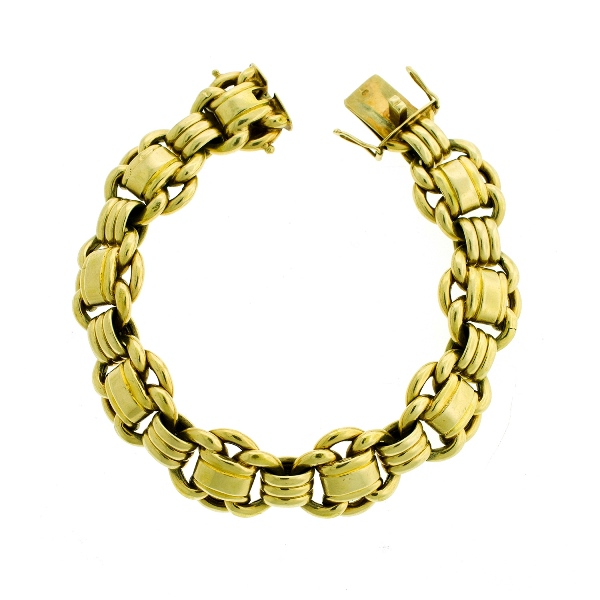 14ct Yellow Gold Bracelet.