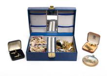 Qty Miscellaneous Costume Jewellery.  Various items incl. a jewellery box.