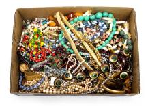 Qty Costume Jewellery Necklaces.  Total necklaces approx. 50+.