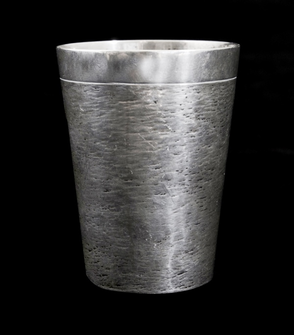 Danish Silver Tumbler by Anton Michelsen, Copenhagen. Dated '28th April 1899,' hallmarks stamped to base.