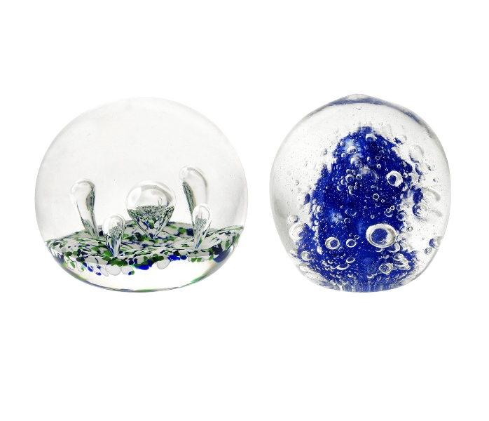 2 Various Glass Paper Weights