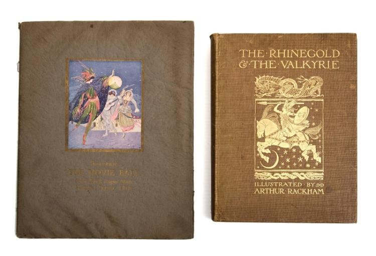 BOOKS, 1923 Australian Movie Ball & Rackham's Rhinegold Souvenir Programme. Programme for the First Annual Ball of the Australian Motion Picture Industry; & The Rhinegold & The Valkyrie by Wagner, with illustrations by Arthur Rackhan, first pub. William Heinemann, 1910.