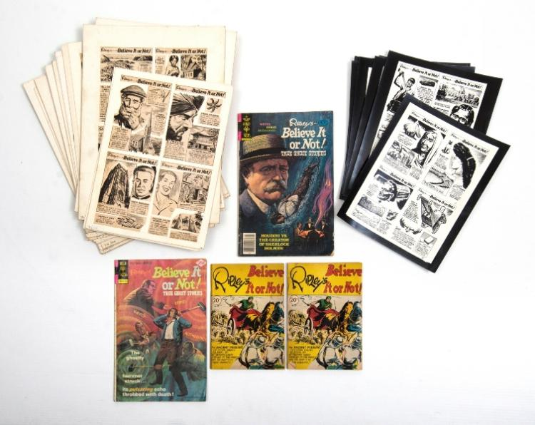 Qty of Ripley's Booklets & Comics.  4 Var. 'Believe it or Not' booklets; & 20 + publisher's original comic mock-ups.