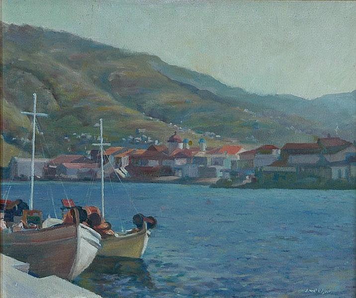 KILGOUR, Jack Noel (1900-1987) 'Korthion Harbour,