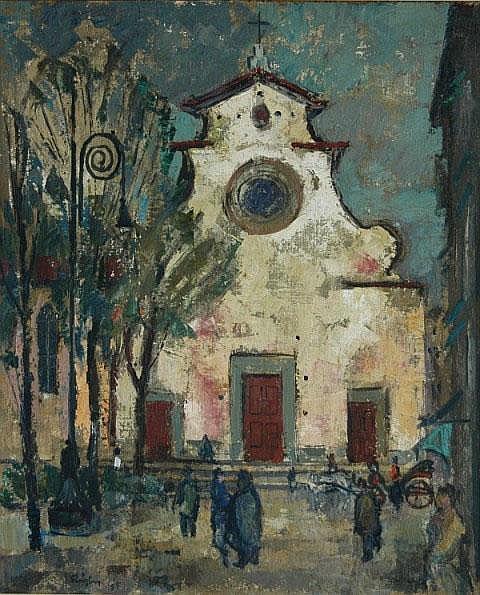 RIGBY, John (b.1922) 'Church of S. Spirito -