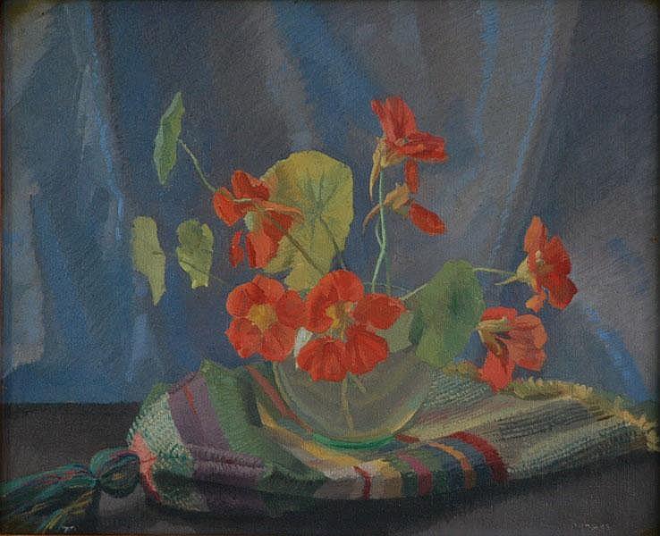DUNDAS, Douglas Robert (1900-1981) 'Nasturtiums'