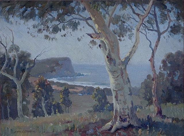 LANGKER, Erik (1898-1982) Australian Coastal Scene