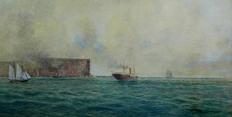 ELLIOTT, Frederick (1864-1949) 'Entrance to Port