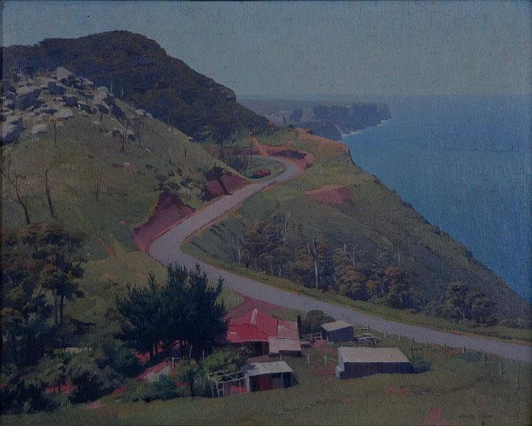 COOK, James (1904-1960) A Coastal Road Oil on