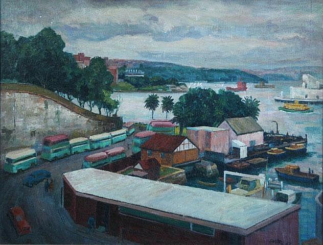 SANTRY, John (1910-1990) 'Grey Day,' 1963.