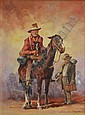 DOYLE, D'Arcy (1932-2001) Drover and Mate Oil on, D'Arcy W. Doyle, Click for value