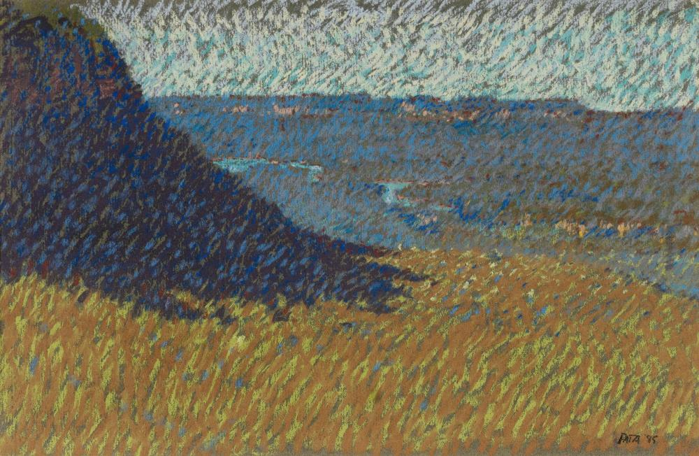 PATA Daniel (b.1952), 'Burragorang Valley,' 1985., Pastel, 24x36cm