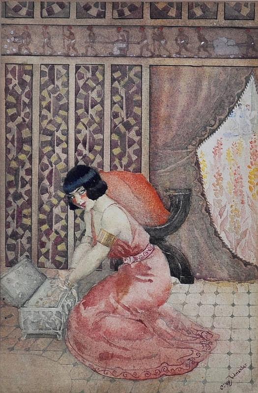 WINCKLER, Ruby (1886-1974) Egyptian Interior,