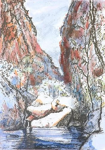 JOYCE, Ena (b.1925) Gorge & Rock Pool Pastel