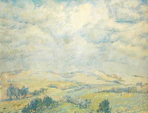APPLETON, Jean (1911-2003) Landscape, 1973. Oil on