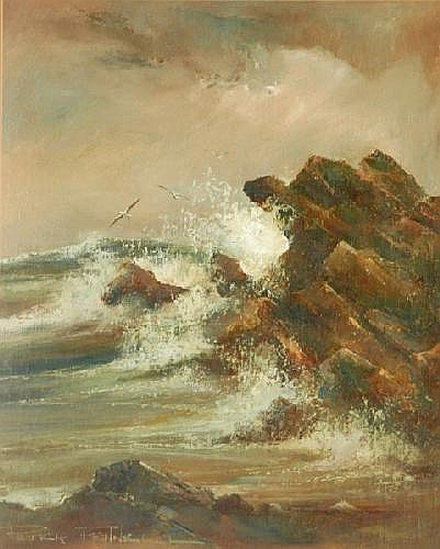 FENNELL, Peter (b.1949) High Tide, 1986. Oil on
