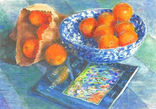 JOYCE, Ena (b.1925) Still Life with Oranges Mixed