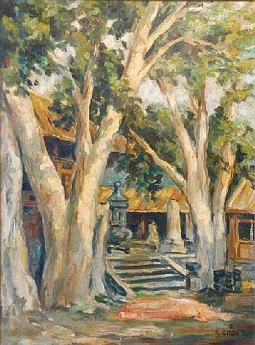 GROSZ, A [August? 1847-1917] Oriental Temple