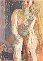 CUMMINGS, Elisabeth (b.1934) Seated Nude II Mixed, Elisabeth Cummings, Click for value