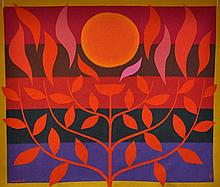 COBURN, John (1925-2006) 'Tree of Life'. Label