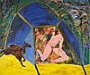 ALLEN, Davida (b.1951) 'Man in Tent,' 1987., Davida Allen, Click for value